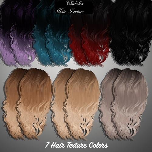7 Hair Textures(Includes Hair Part)