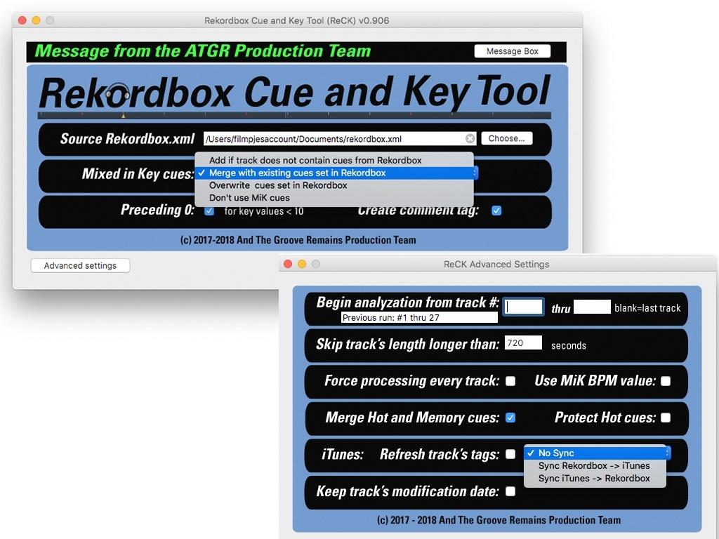 Rekordbox Cue and Key Tool