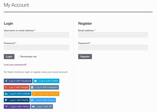 WooCommerce Social Login 2.3.2 Extension