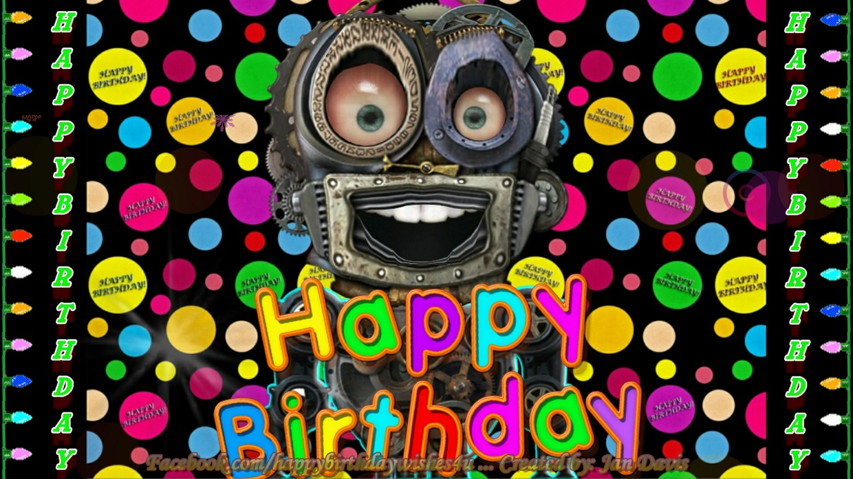 Sherry Robot sings Happy Birthday Wishes!