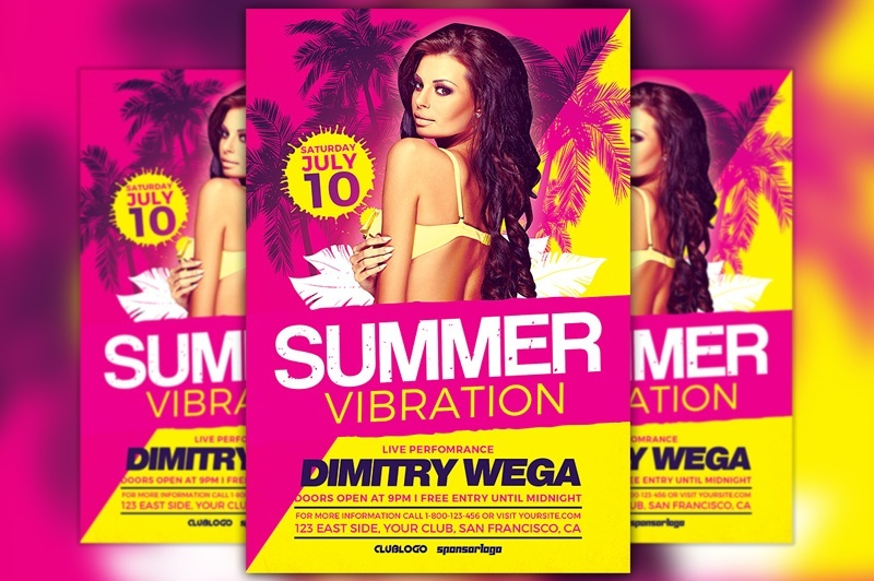 Summer Vibration Flyer Template