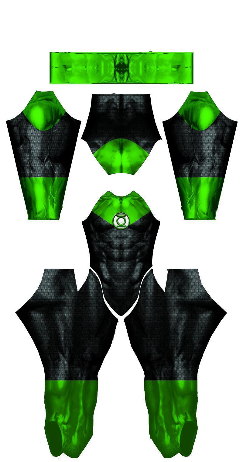 Jon Stewart Green Lantern Dye-Sub Pattern