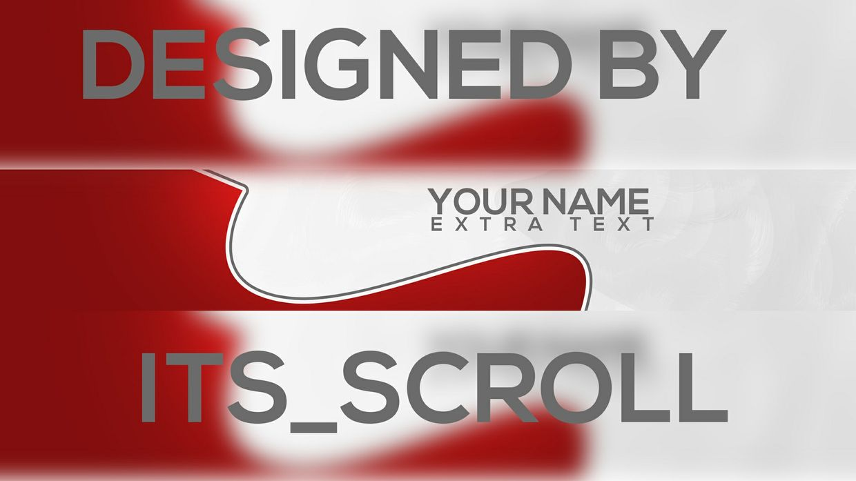 Pre-Made 2D Clean Abstract Profile Banner