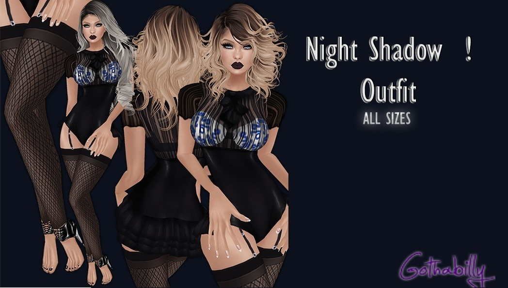 NIGHT SHADOW OUTFIT - RESELLS RIGHTS