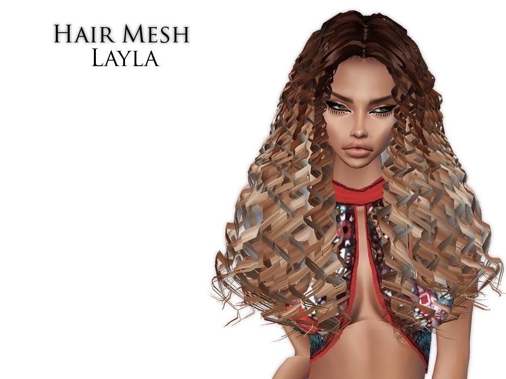 IMVU Mesh - Hair - Layla