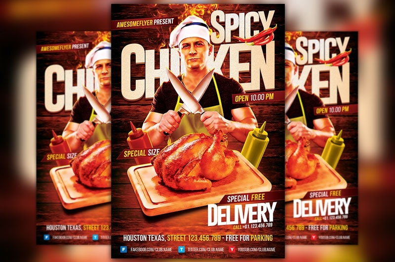 Spicy Chicken Flyer Template