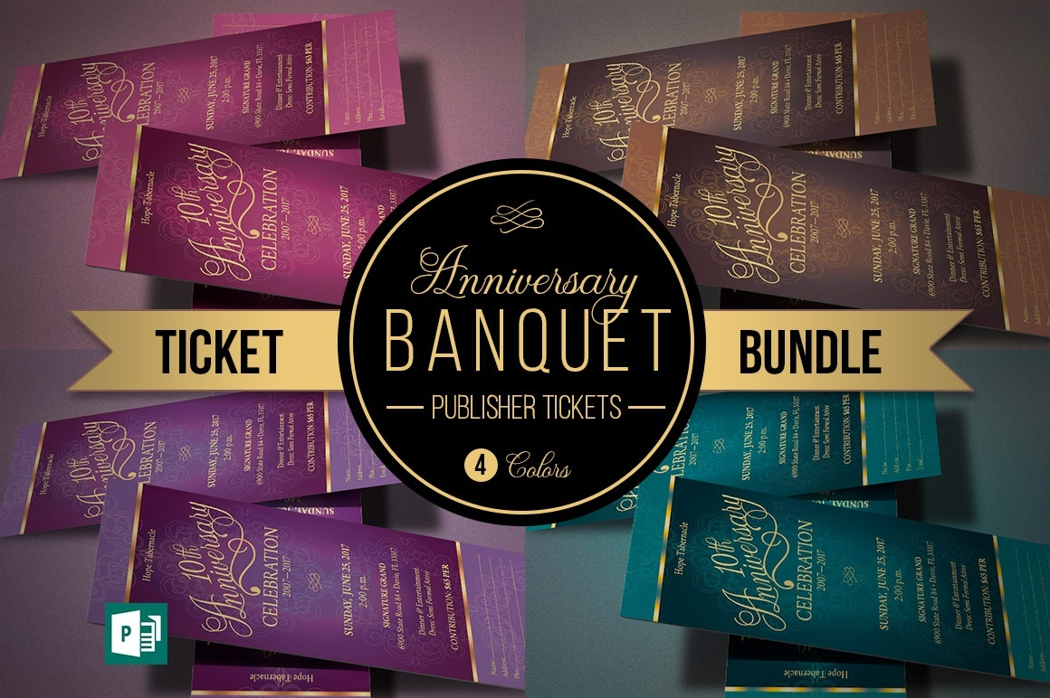 Church Anniversary Ticket Bundle Publisher