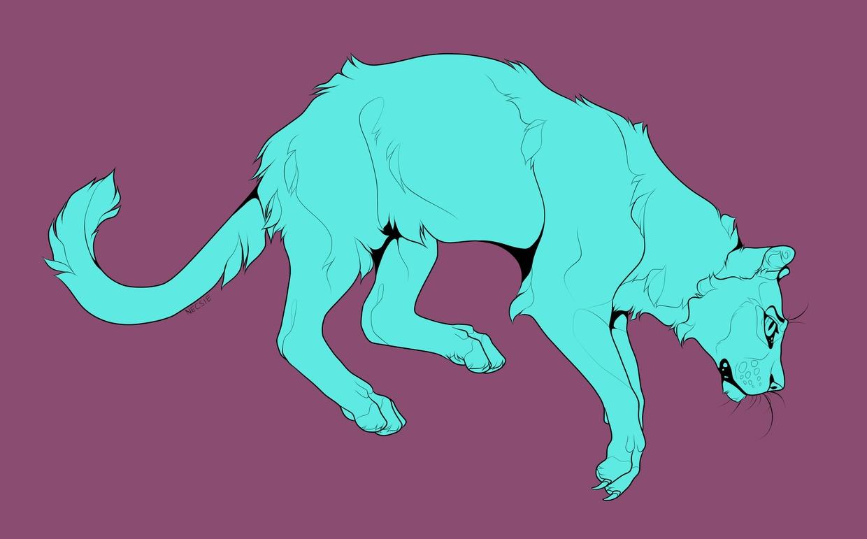 Big Cat Line Art