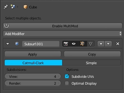 MultiMod- Multi-Object Modifier Control