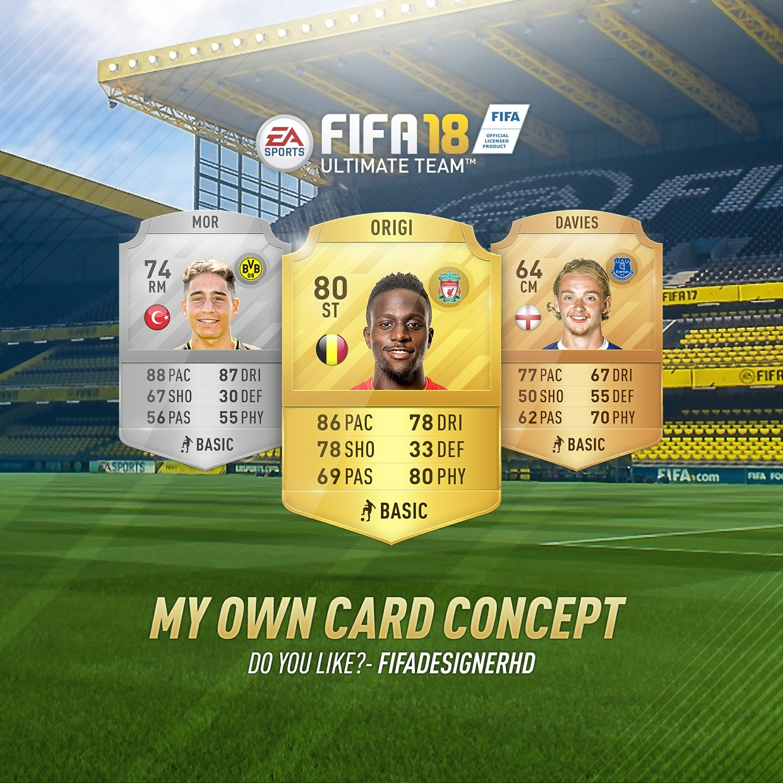 FIFA 18 CARD TEMPLATE HD