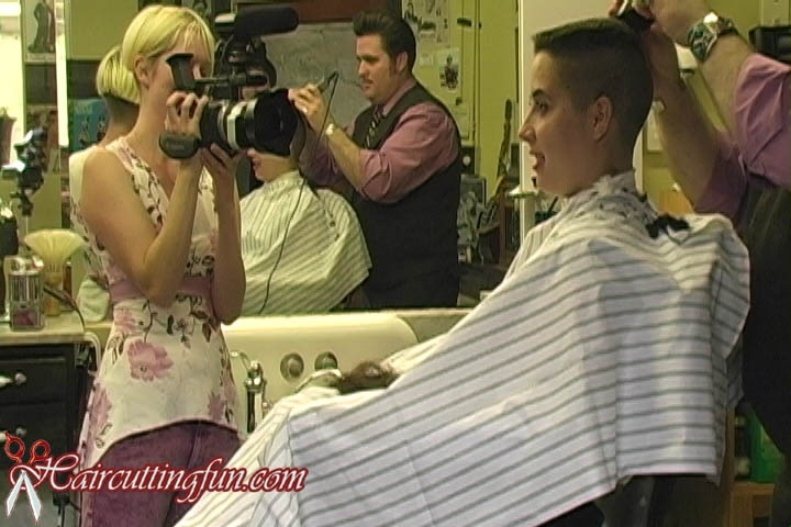 Jana Goes to the Barbershop - Flat Top Haircut - VOD Video Download