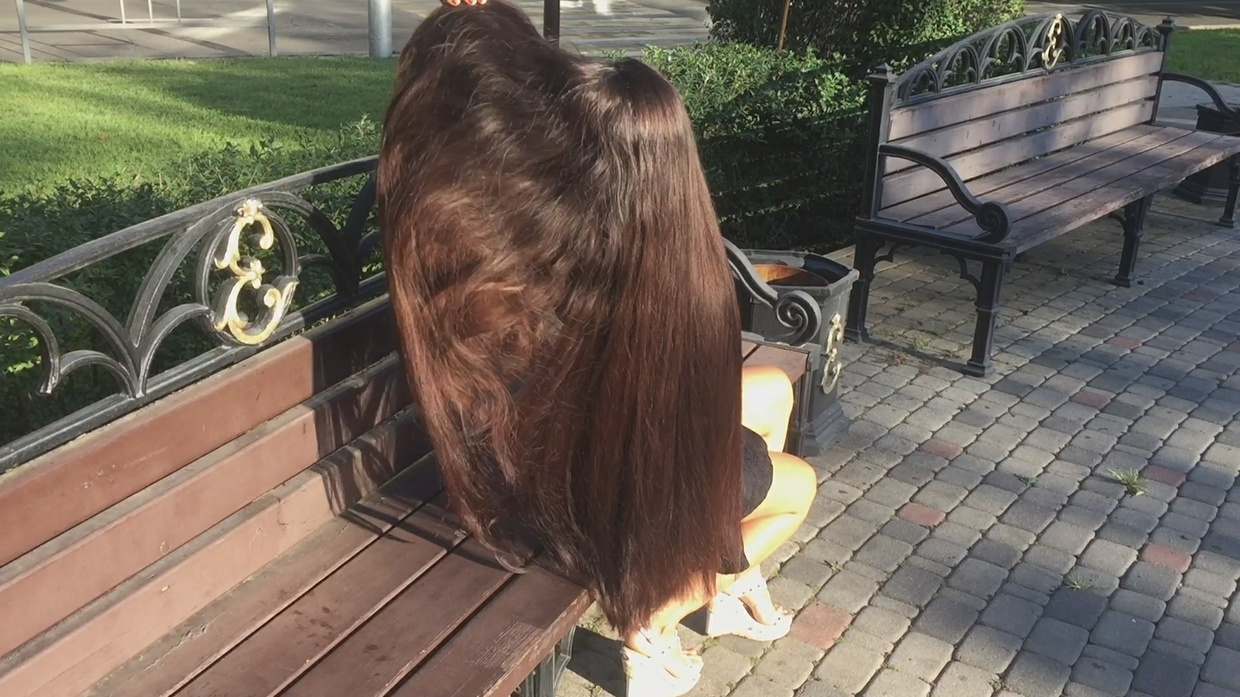 Superthick Hairplay in Bench Outside: Part. 2