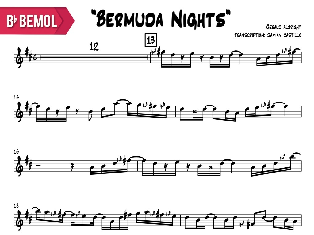 "Gerald Albright - ""Bermuda Nights"" - Bb"