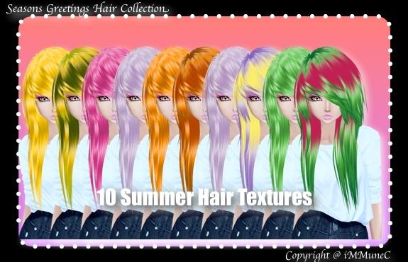 10 Summer Hair Textures (SG)