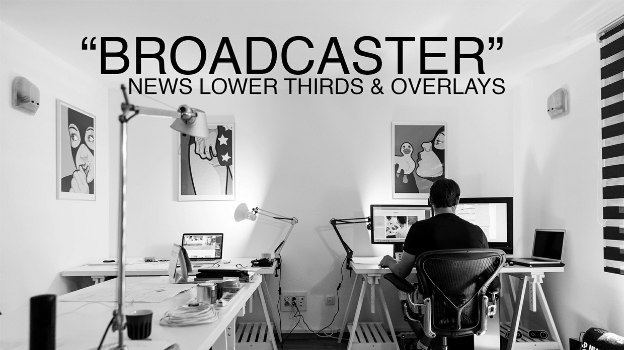 """Broadcaster"" Lower thirds and news screen overlays For FCPX"