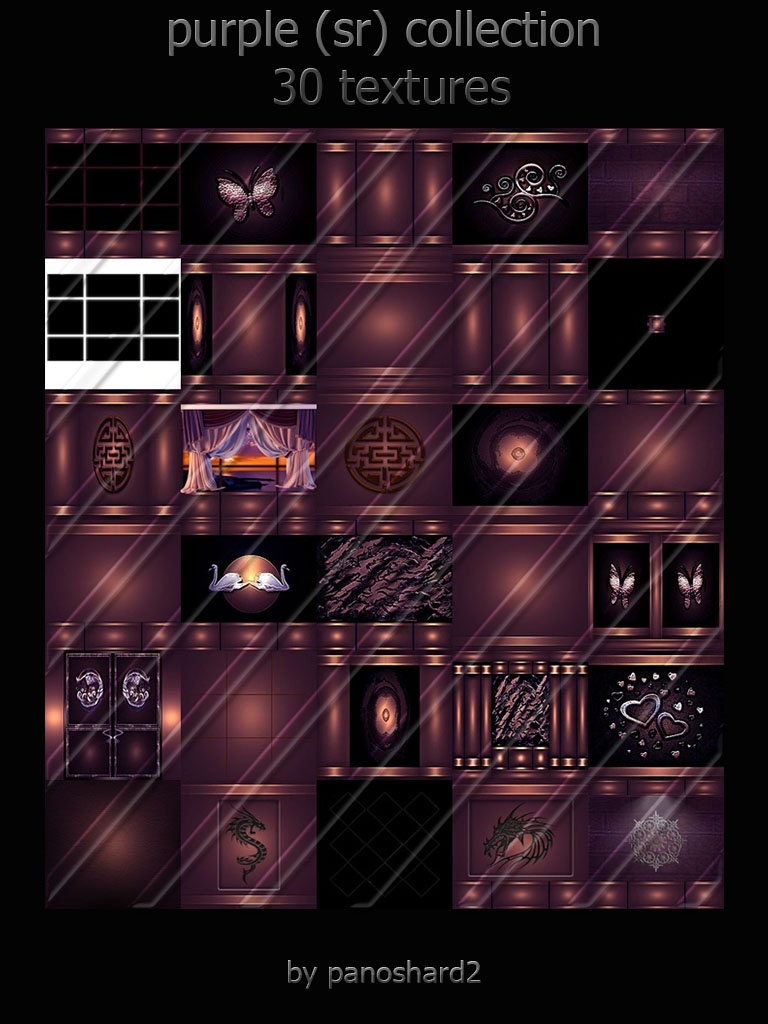 Purple (sr) collection 30 textures room imvu