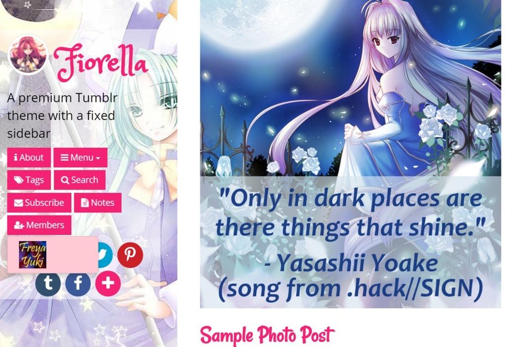 Fiorella responsive premium tumblr theme