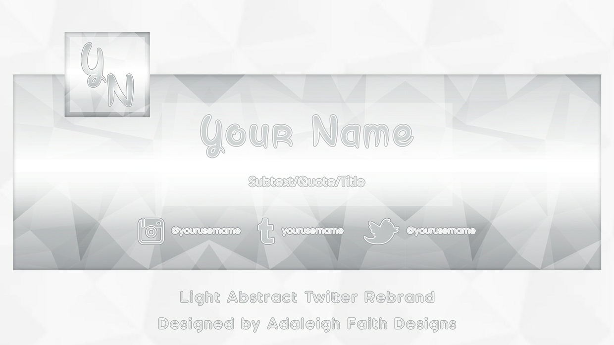 Light Abstract Twitter Rebrand