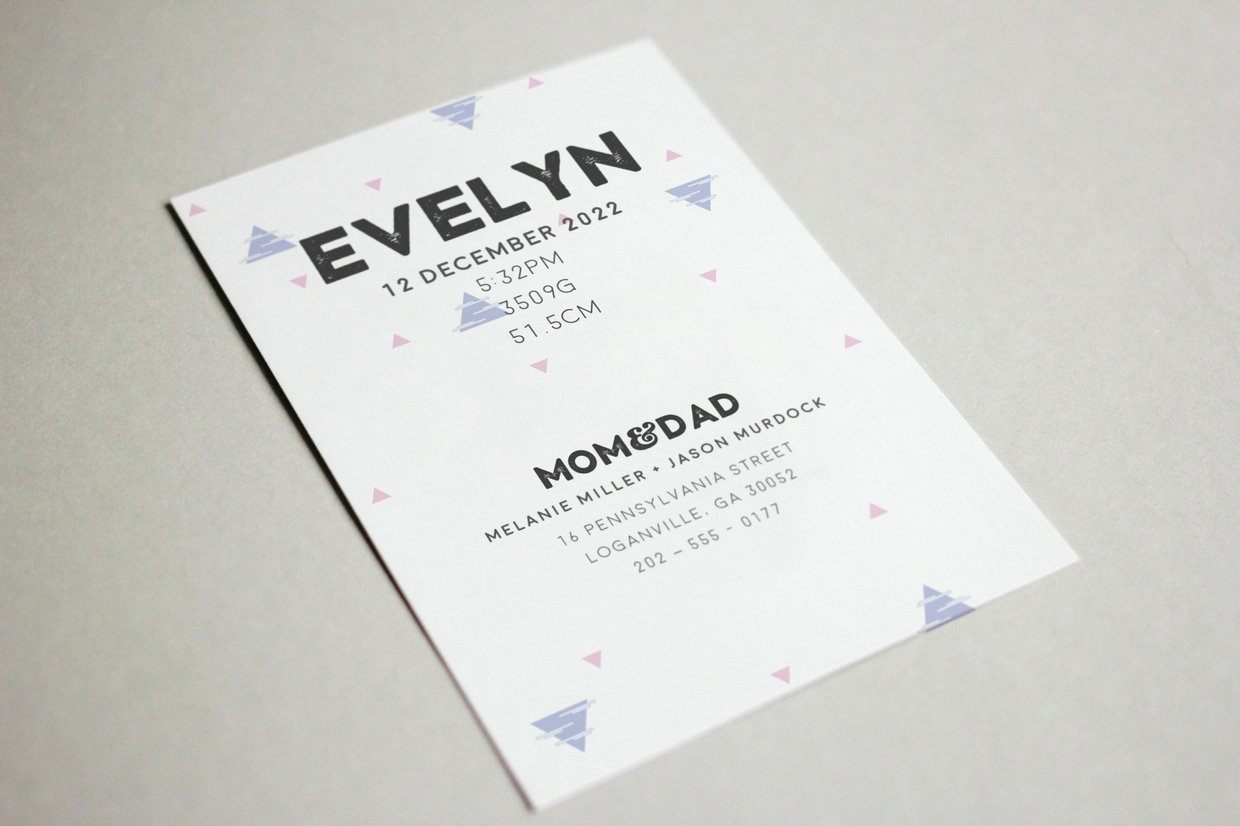 Free Birth Announcement Template for Baby Girl