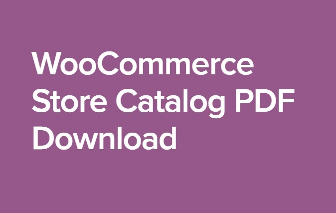 WooCommerce Store Catalog PDF Download 1.0.12 Extension