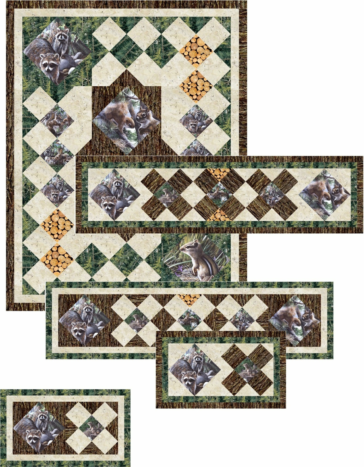 The Glen Wall Hanging and Table Set