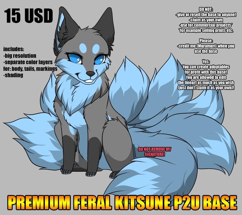 Premium feral kitsune base