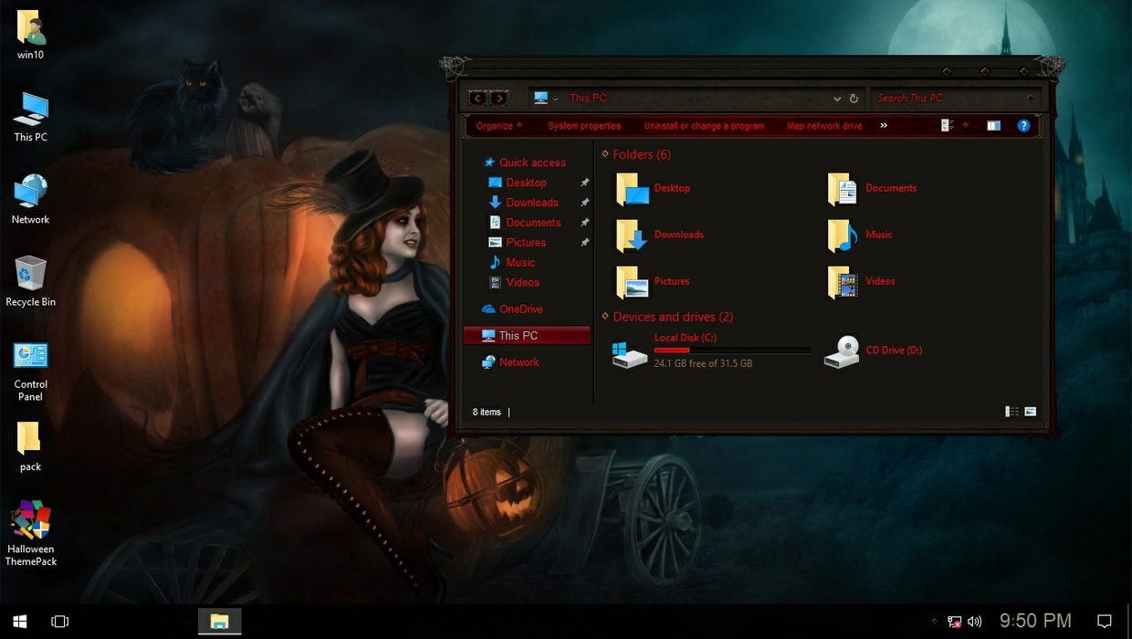 Halloween ThemePack for Win 7/8.1/10RS2
