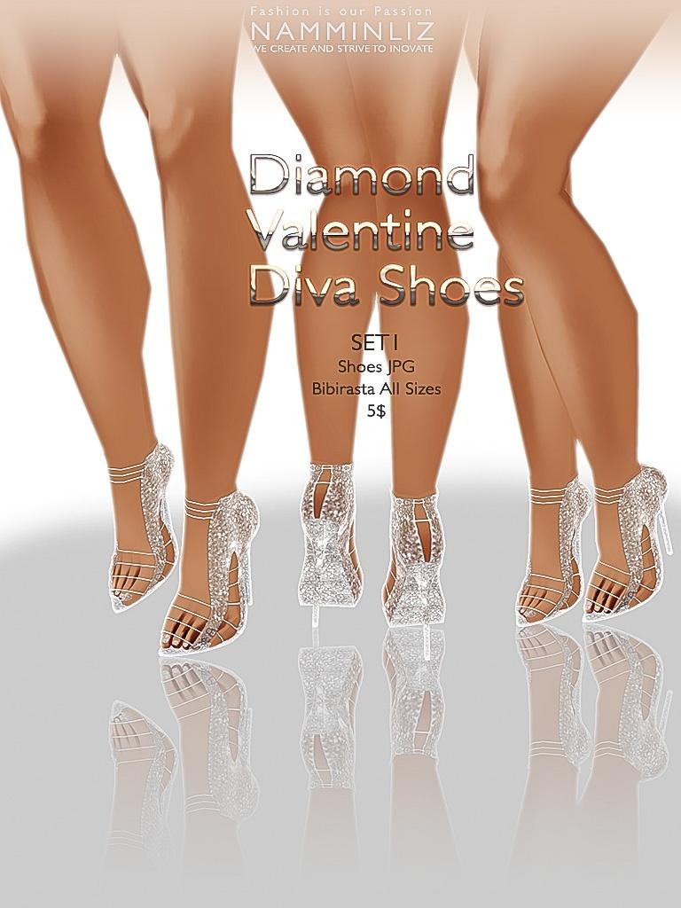 Diamond Valentine Diva Shoes SET 1 JPG bibirasta texture imvu
