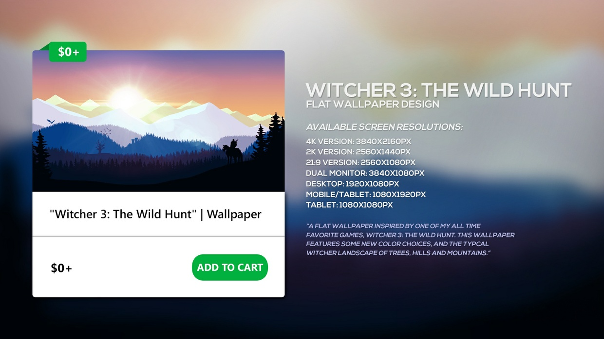 """Witcher 3: The Wild Hunt"" 