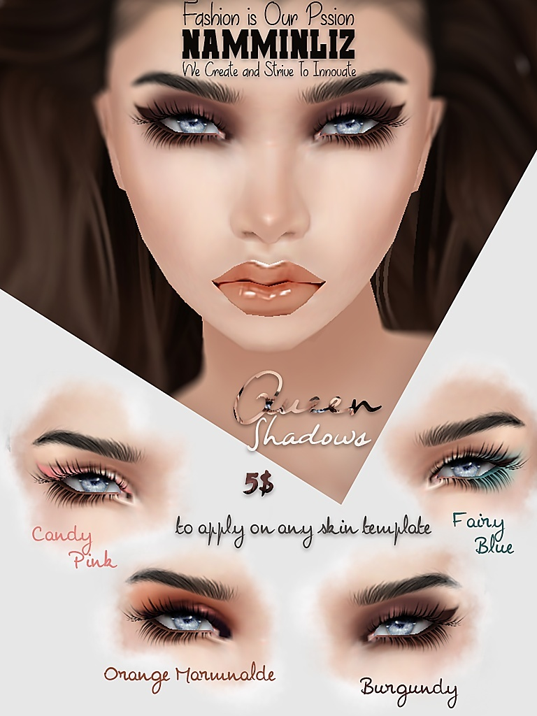 Queen 4 Eyeshadows PNG and PSD