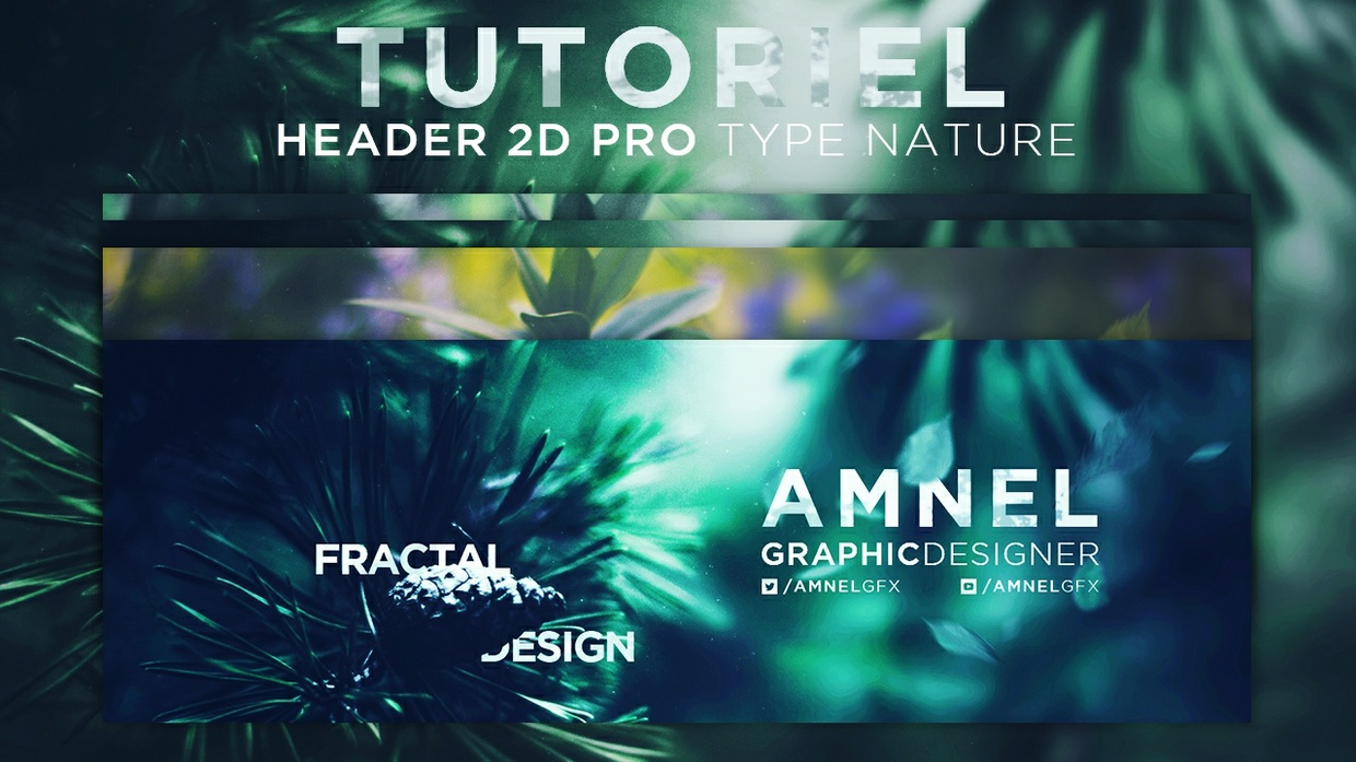 [Free template] 2D Pro & Natural themed Header (banner)