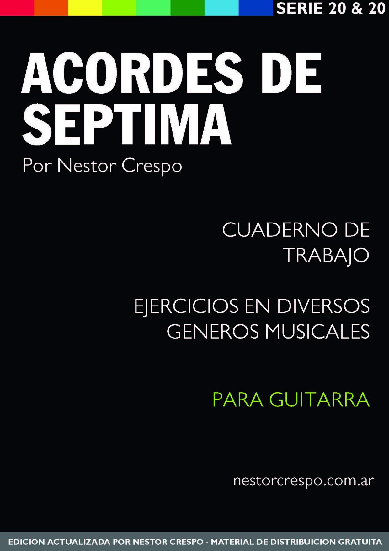 GUITARRA / GRATIS - DONACION - Libro de Acordes de Séptima