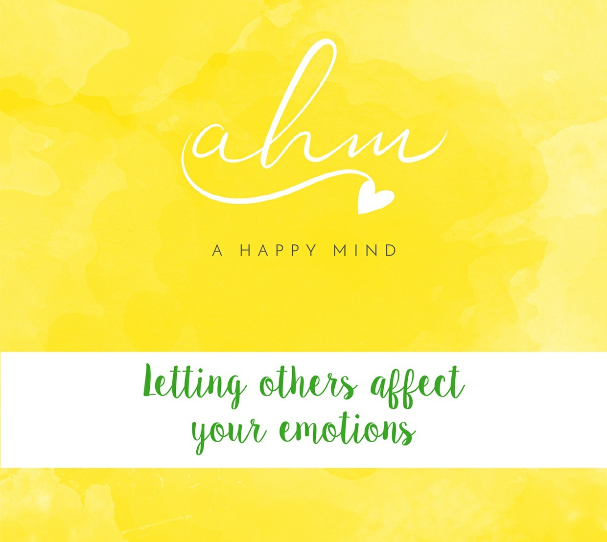 Letting Others Affect Your Emotions