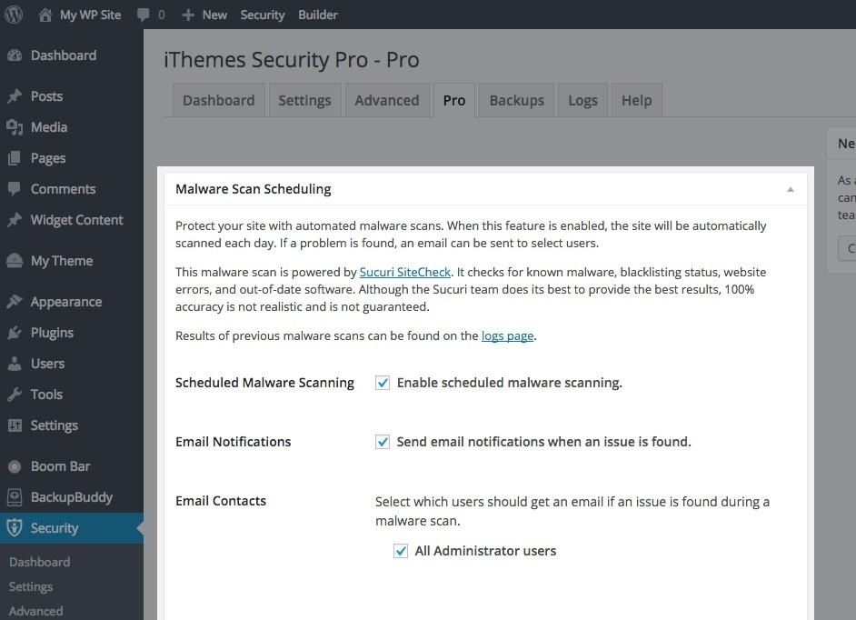 ithemes Security Pro 4.0.0 Plugin