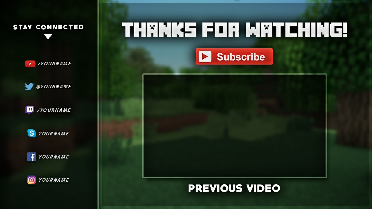 minecraft outro template movie maker - minecraft outro template tristan nelson
