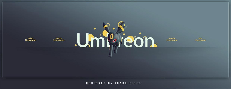POKEMON GO: Umbreon Twitter Header Template (PSD)