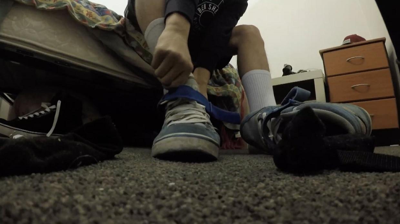 Stuck in Carl's shoe