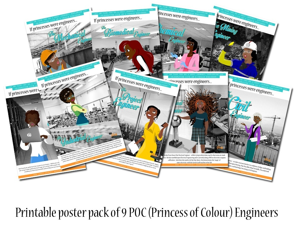 POC (Princess of Colour) Engineer Printable Poster Pack