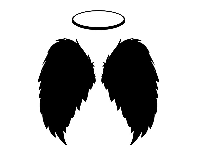 black angel wings and halo vector  png and jpgs includ borders religious free clipart Free Religious Clip Art