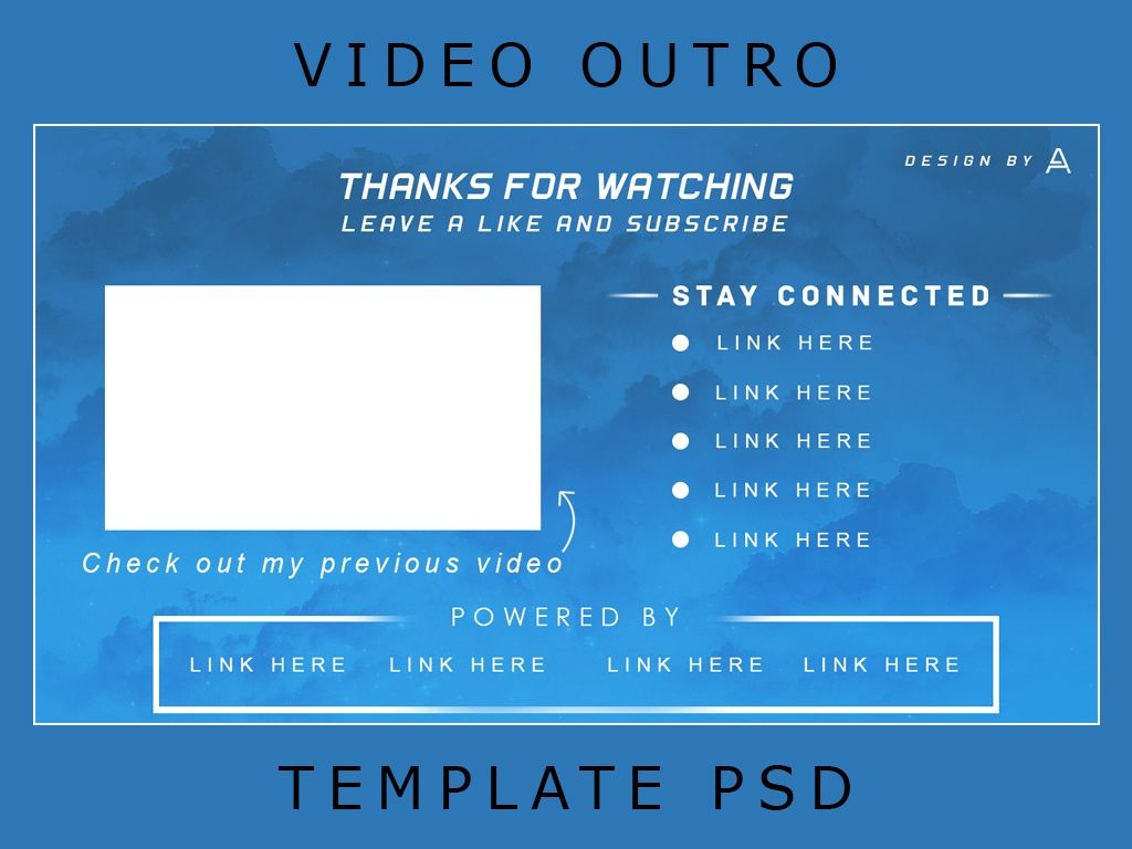 Free Youtube Video Outro Template