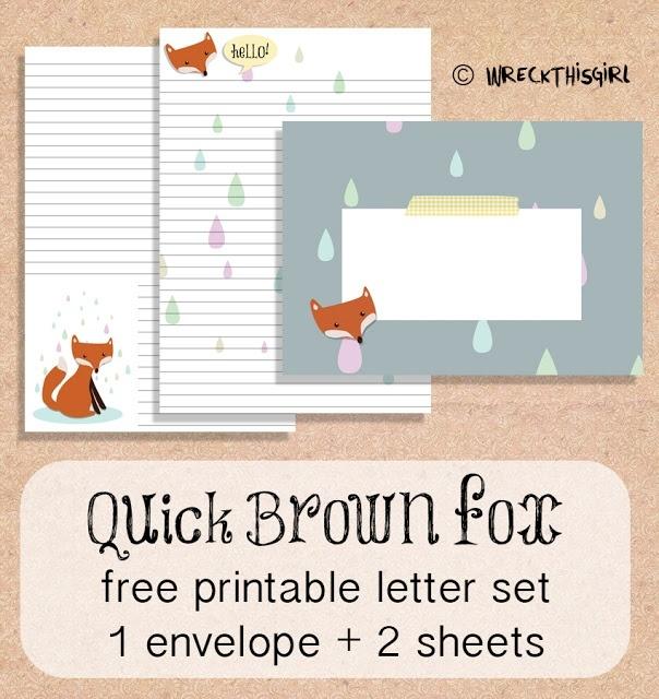 Quick Brown Fox Letter Set