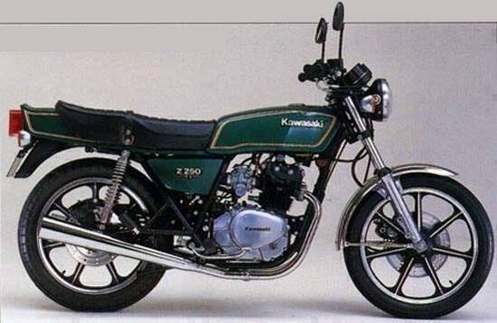 1979 KAWASAKI Z250, KZ305 MOTORCYCLE SERVICE REPAIR MANUAL
