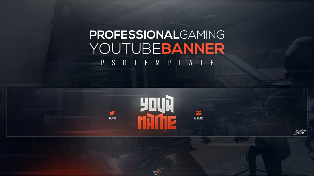 Epic Gaming Youtube Banner by LastZAK │2017