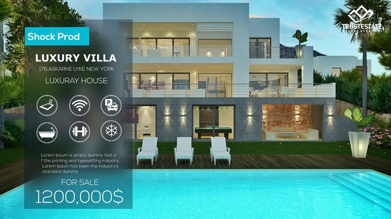 Template Real Estate Slideshow sony vegas 12 13 14