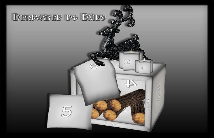 Mesh-Christmas Deco Log Box