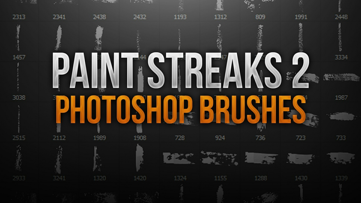 Paint Streak 2 Photoshop Brush Pack