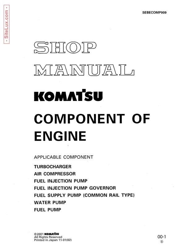 Komatsu Component of Engine Shop Manual - SRBECOMP009
