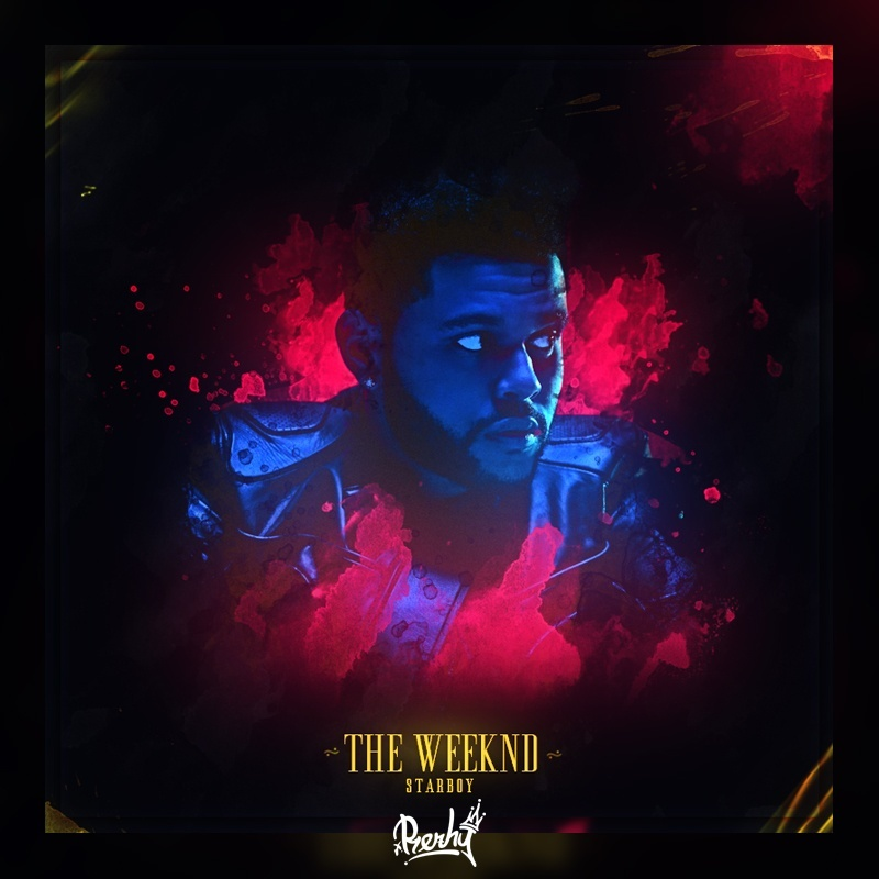 The Weeknd Album Cover PSD