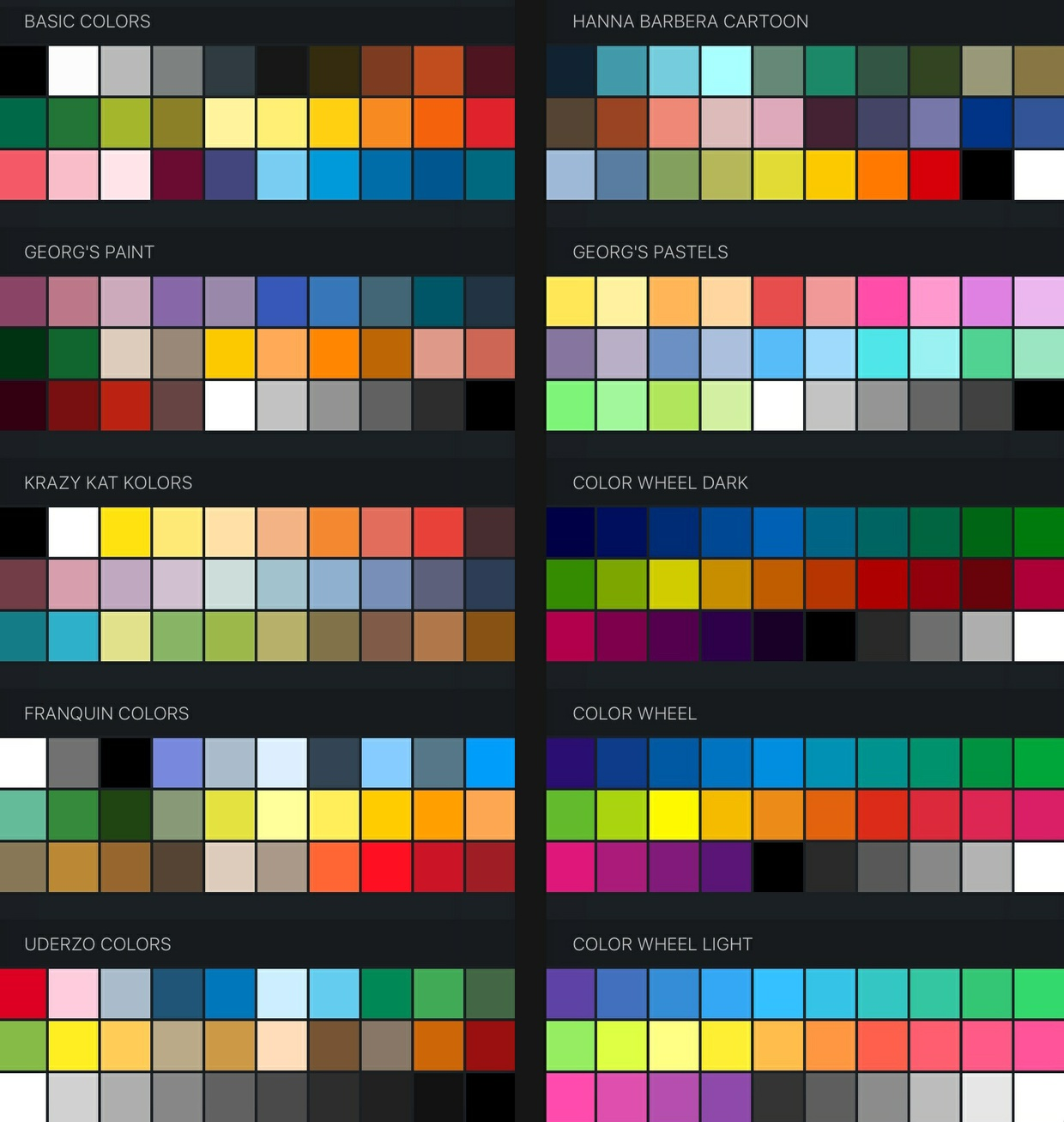 FREE Procreate Color Swatches 37 Palettes For Painting And Drawing