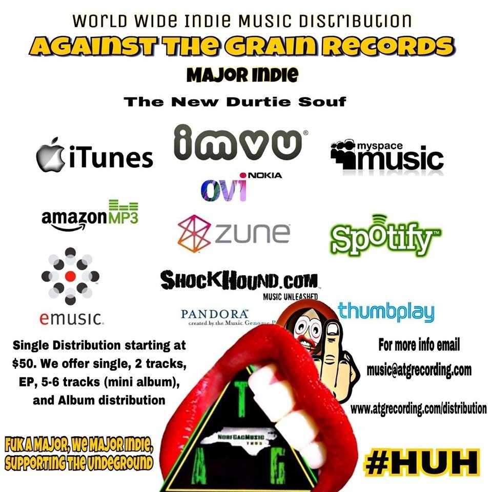 ATG Indie Music World Wide Distribution #MajorIndie